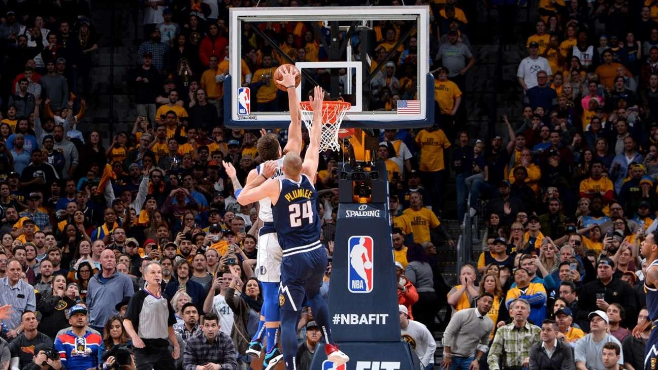 Luka Doncic entra a canasta en el partido ante Nuggets (Foto: NBA).