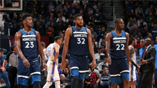 Butler, Towns and Wiggins played in 59 games together last season.