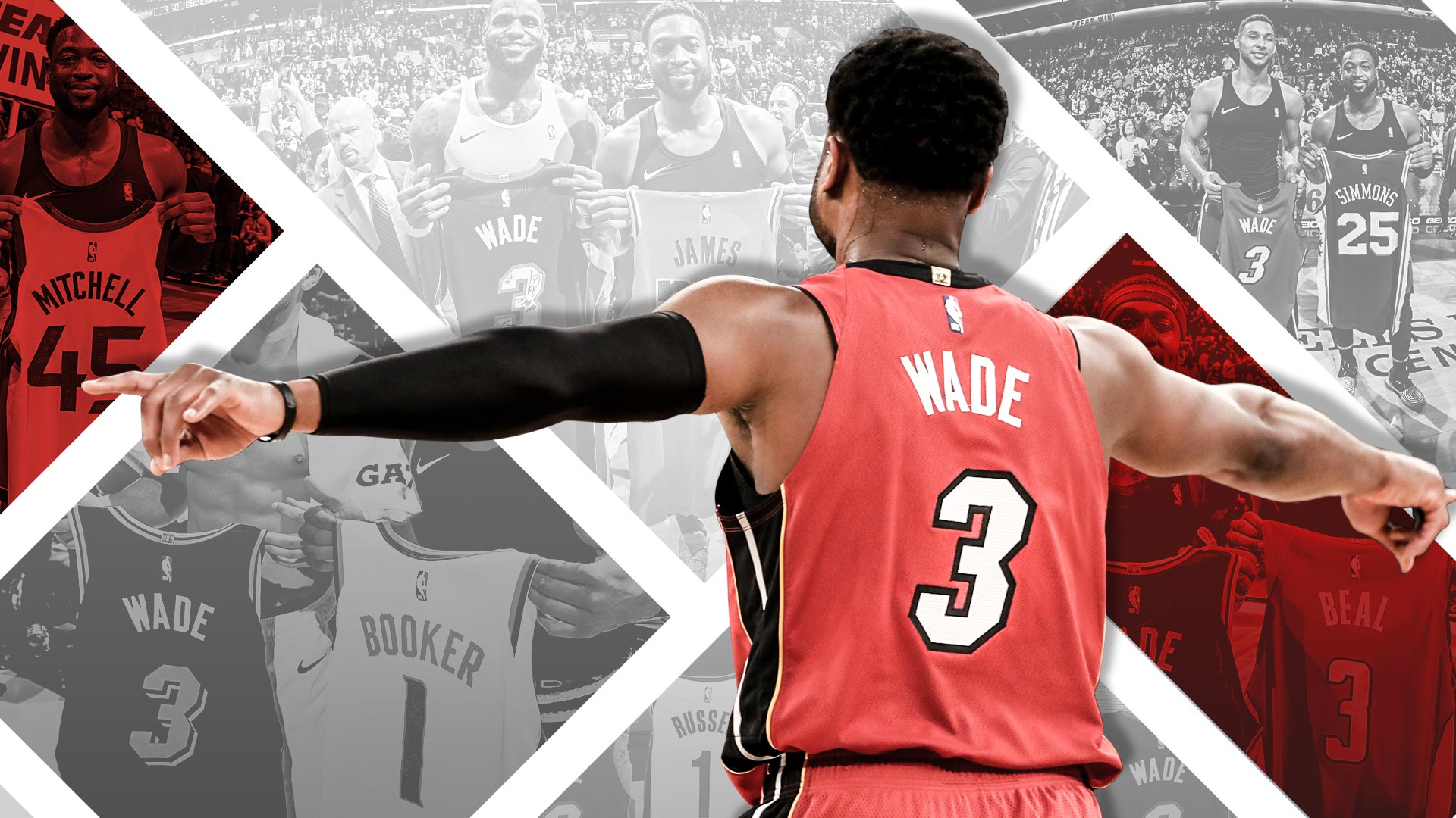 46555c2f9460 OneLastDance – Every jersey swap from Dwyane Wade s final NBA season ...