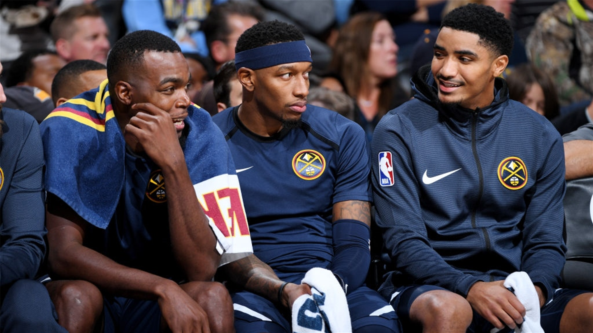 Paul Millsap (left) and Gary Harris (right) have combined to miss 16 games