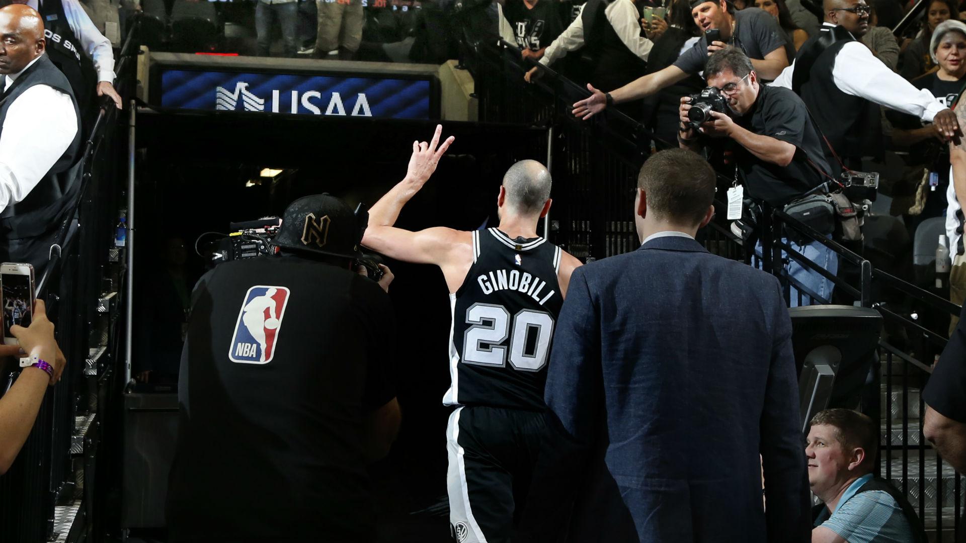 NBA scores and highlights: Manu Ginobili jersey retirement ...
