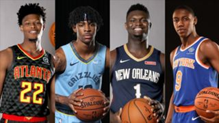 Cam Reddish, Ja Morant, Zion Williamson, and RJ Barrett
