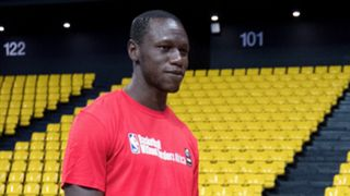 Gorgui Dieng at the Basketball Without Borders Africa Camp