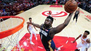 Zion Williamson dunk Atlanta New Orleans