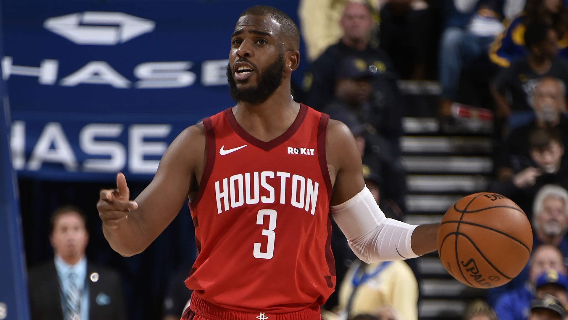 4f355b97296d James Harden-less Houston Rockets defeat Golden State Warriors on a huge  night from Chris Paul
