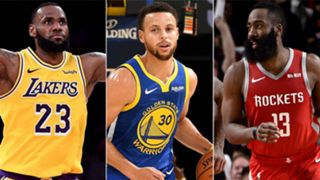 LeBron James, Stephen Curry, James Harden