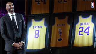 The Lakers retired both of Kobe Bryant's numbers - 8 and 24.