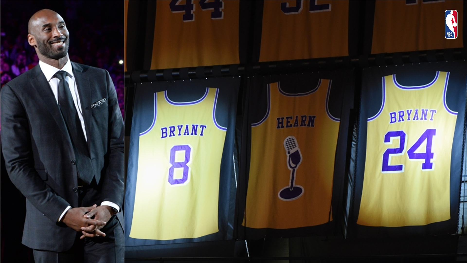 22aaef4d10b On This Date  Los Angeles Lakers honor Kobe Bryant with jersey retirement