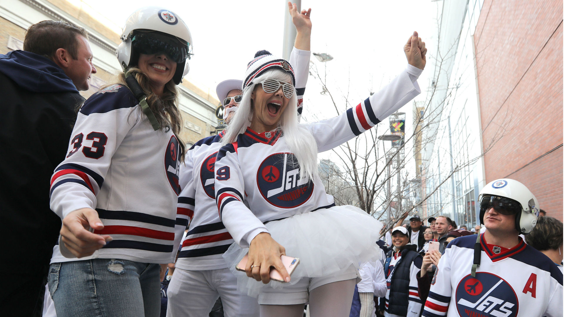 quite nice a3331 688ab NHL playoffs 2018: Jets fans flood streets for party 31 ...