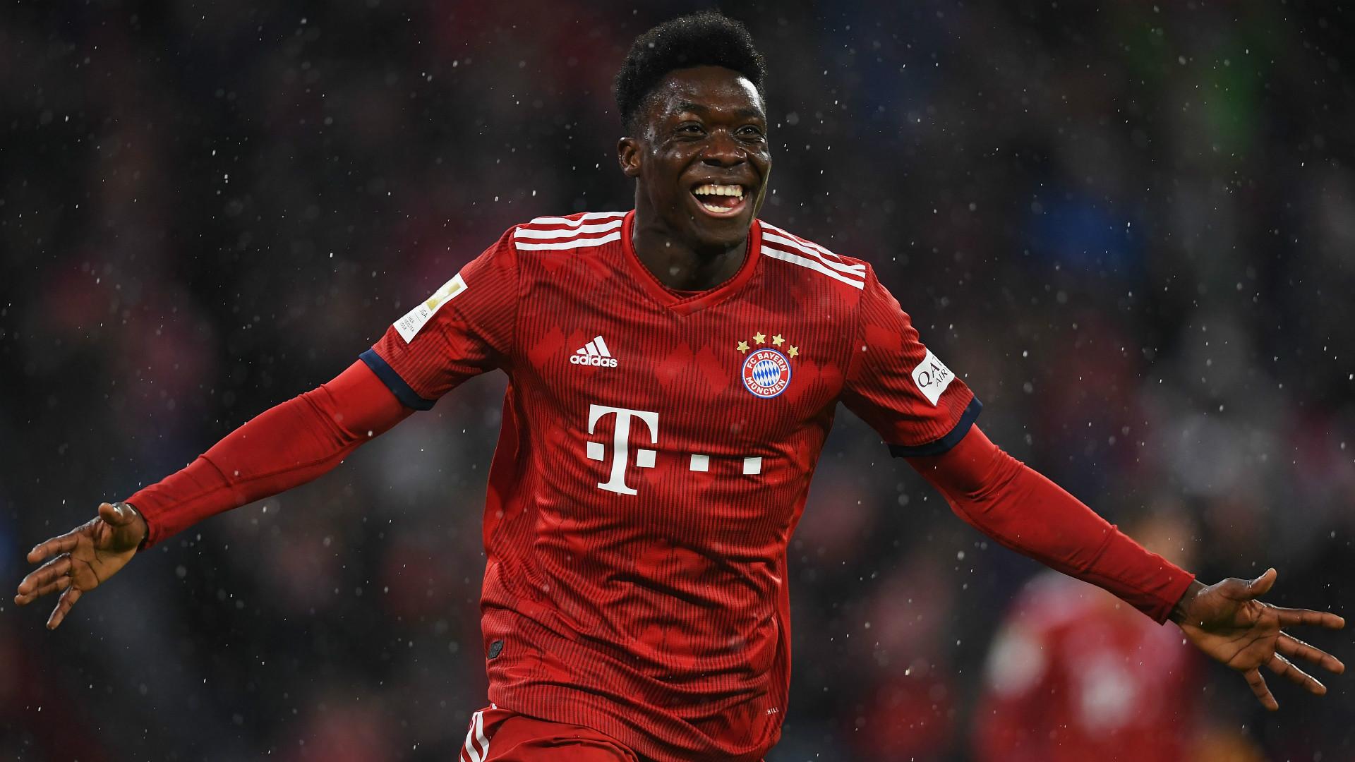 Alphonso Davies scores first goal for Bayern Munich