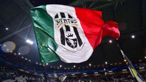 Juventus Supporters wave flags before the Italian Serie A football match