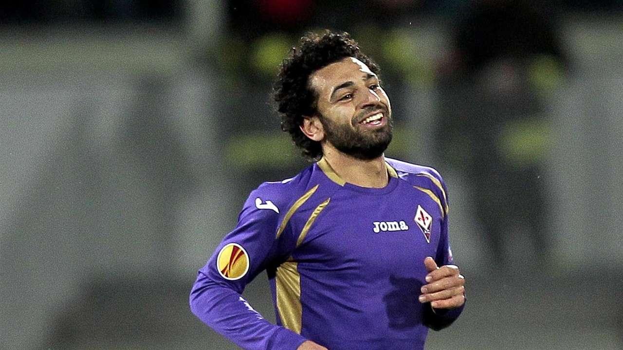 Mohamed Salah ACF Fiorentina Tottenham Hotspur during the UEFA Europa League Round of 32 match 02162015