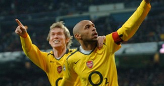 Thierry Henry Alexander Hleb Real Madrid Arsenal Uefa Champions league 21022006