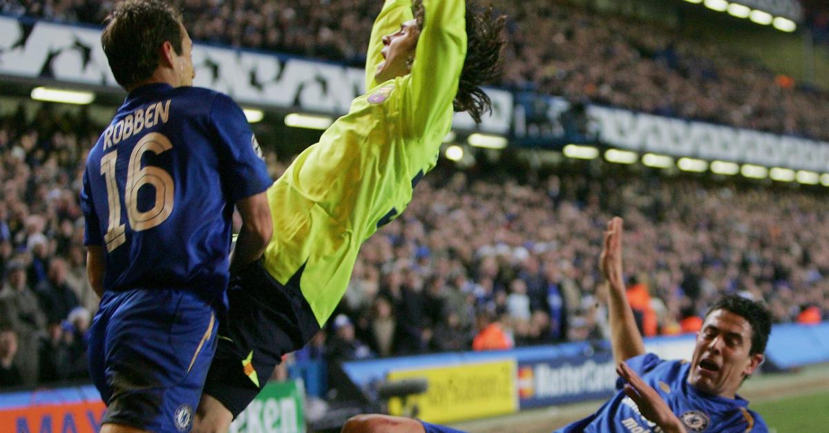 Asier Del Horno Lionel Messi Arijen Robben Chelsea Barcelona Uefa Champions League 22022015