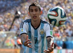 Angel Di Maria Argentina Switzerland 2014 FIFA World Cup