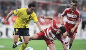 Bayern Munchen Barcelona 2009 Xavi Lahm