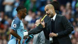 ONLY GERMANY Raheem Sterling Pep Guardiola Manchester City
