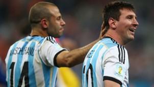 Javier Mascherano Lionel Messi Argentinien WM 2014 07092014