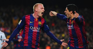 Jeremy Mathieu Luis Suarez FC Barcelona Real Madrid La Liga 03222015