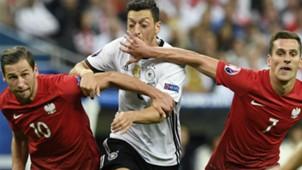 Mesut Ozil Grzegorz Krychowiak Arkadiusz Milik Germany Poland European Championship 16062016