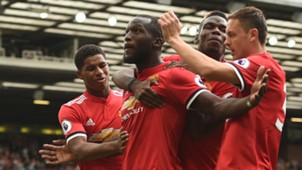 Manchester United Romelu Lukaku celebrating Premier League 13082017