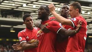Manchester United Romelu Lukaku celebrating Premier League 13082017