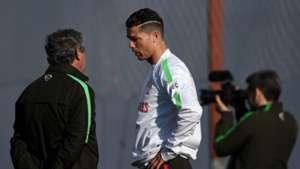 Fernando Santos Cristiano Ronaldo Portugal Training 28032015