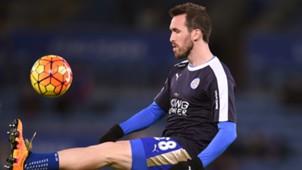 Christian Fuchs Leicester City West Bromwich Albion Premier League 03012016