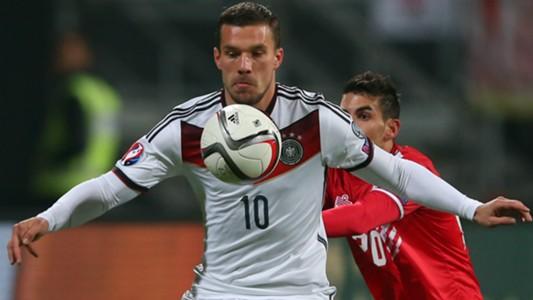 Lukas Podolski Jean Carlos Garcia Germany Gibraltar European Qualifiers 14112014