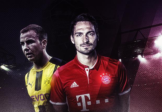 TSR ONLY GFX Borussia Dortmund Bayern Munchen Mario Gotze Mats Hummels