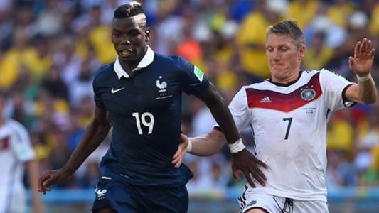 Paul Pogba Bastian Schweinsteiger Frankreich Deutschland WM 2014 07042014