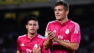 Toni Kroos James Rodriguez Real Madrid 08312014