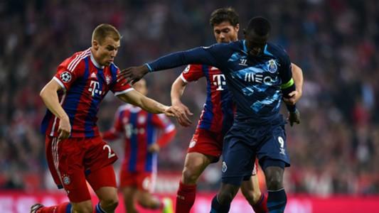 Jackson Martinez, Holger Badstuber FC Bayern Muenchen v FC Porto - UEFA Champions League 04212015