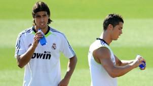 Sami Khedira Cristiano Ronaldo Real Madrid training 03082010
