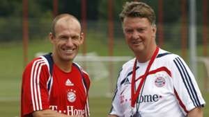 Arjen Robben Louis van Gaal FC Bayern Munchen