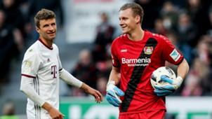 Thomas Müller Bernd Leno Bayern Leverkusen