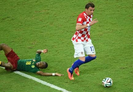 Mario Mandzukic Cameroon Croatia World Cup 061914