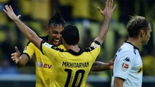 Pierre-Emerick Aubameyang Henrikh Mkhitaryan Borussia Dortmund Bundesliga 15082015