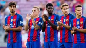 FC Barcelona Umtiti, Digne, Gomes