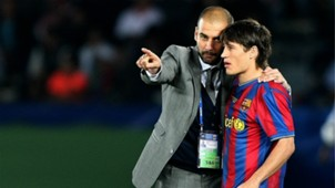 Pep Guardiola Bojan Krkic Barcelona