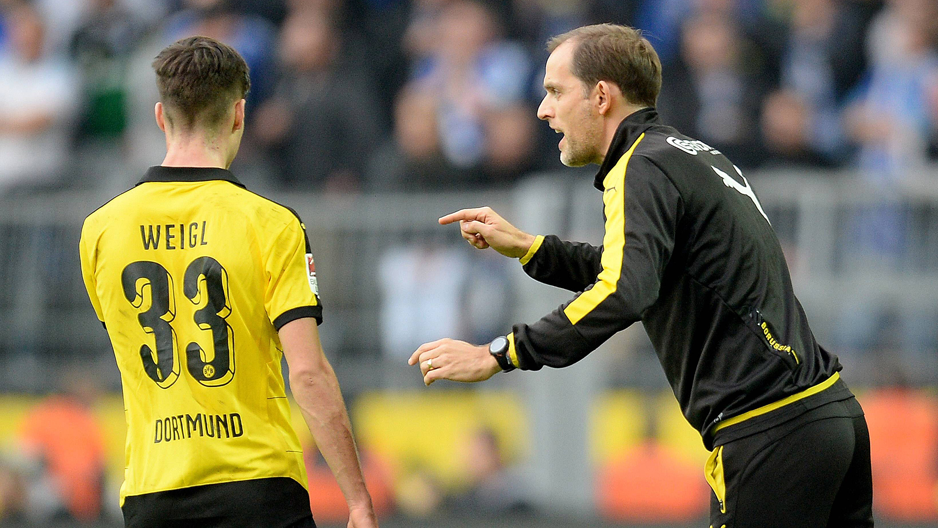 ONLY GERMANY Thomas Tuchel Julian Weigl Borussia Dortmund 11082015