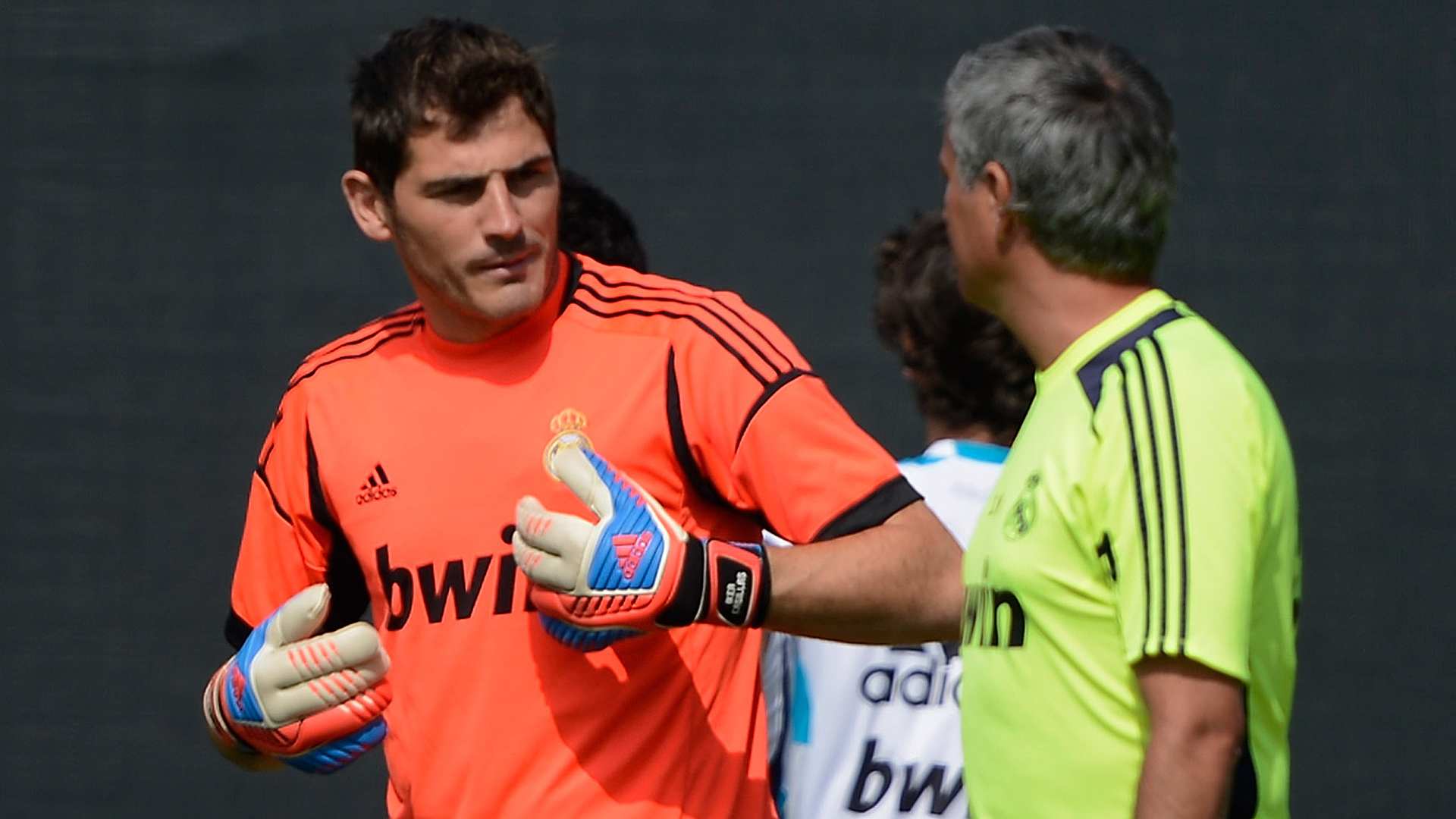 Iker Casillas Jose Mourinho Real Madrid 01082012