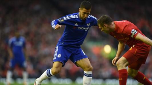 Eden Hazard James Milner Chelsea Liverpool