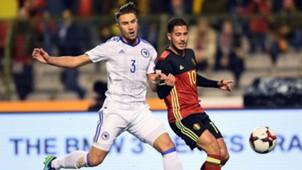 Ermin Bicakcic Eden Hazard Belgien Bosnien WM-Qualifikation 07102016