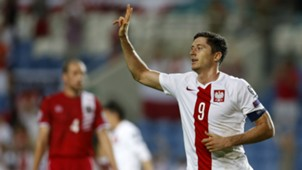 Robert Lewandowski Gibraltar Poland European Qualifiers 07092014