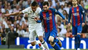 Lionel Messi Casemiro Barcelona Real Madrid 23042017