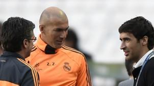 Raul Gonzalez Blanco Zindedine Zidane Real Madrid 23052014