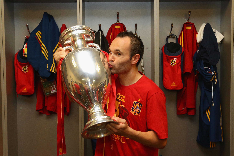 Andres Iniesta Spain EURO 2012 Trophy MVP