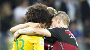 *GERMAN EDITION ONLY* Dante Thomas Müller Bastian Schweinsteiger Brazil Germany Wolrd Cup 08072014