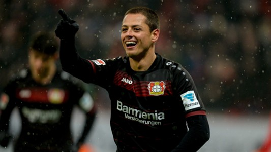 JAVIER HERNANDEZ CHICHARITO BAYER LEVERKUSEN GERMAN BUNDESLIGA 11022017
